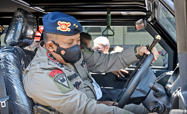 Komandan Korps Brimob Polri (Dankor Brimob), Irjen. Pol. Drs. Anang Revandoko